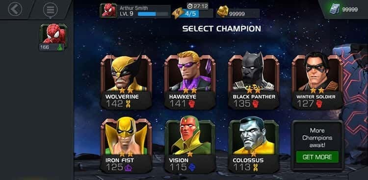 MARVEL Contest of Champions unlimited units