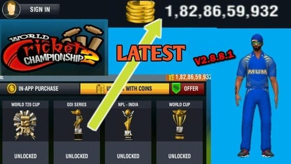 World Cricket Championship 2 APK MOD HACK (Monedas Ilimitadas) 1